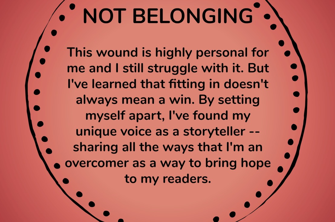 Not Belonging – Wounds to Wins Series